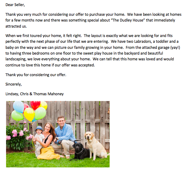 The love letter we wrote to the owners of our last home.