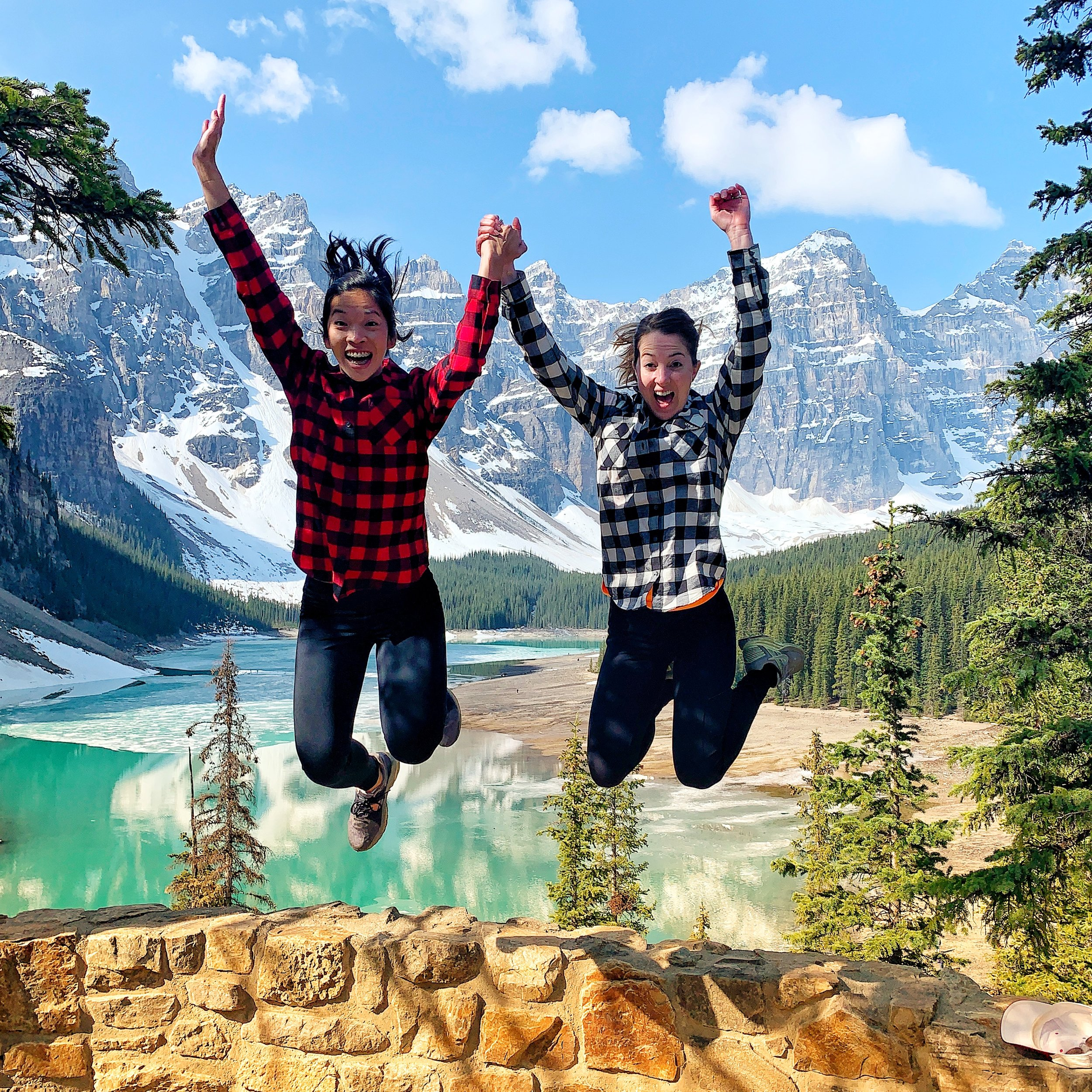 Hanging out with the bride-to-be in Banff, Canada.