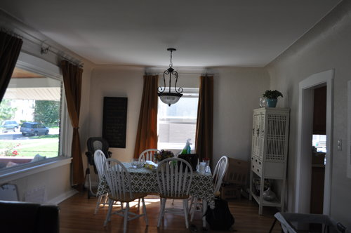 The dining room was closed off from the kitchen.