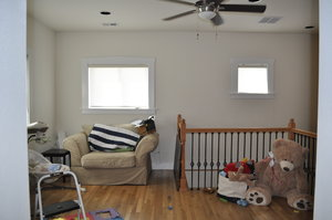 The top of the stairs was a large open living space