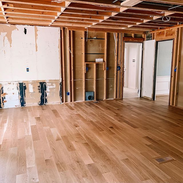 When we get home from vacation in a week this space will actually resemble a kitchen. • The drywall will be installed and the cabinets will be in place. • I'm doing my best to relax and let our contractors do their thing while we enjoy our last trip of the summer!