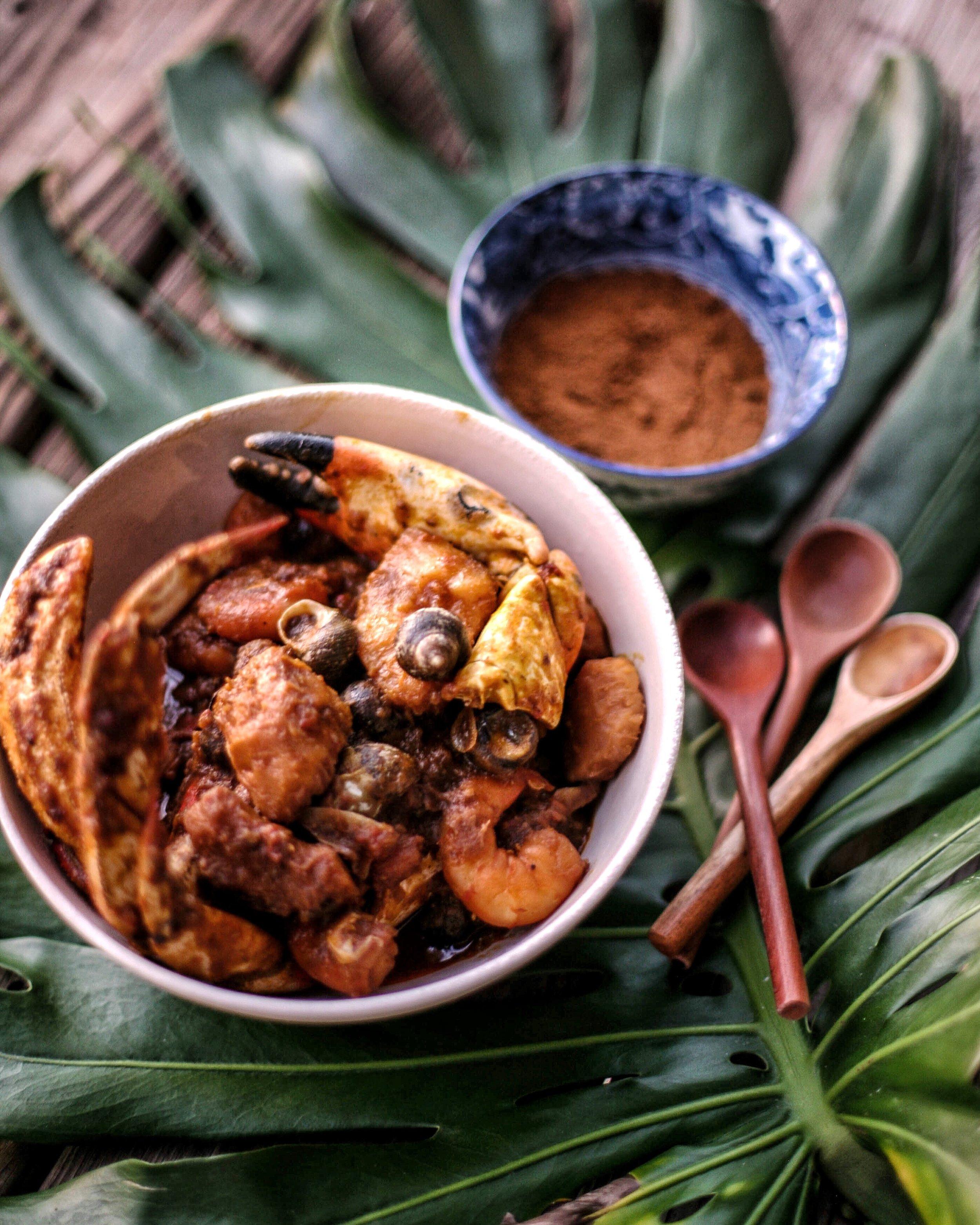 Seafood Cocoyam Pottage