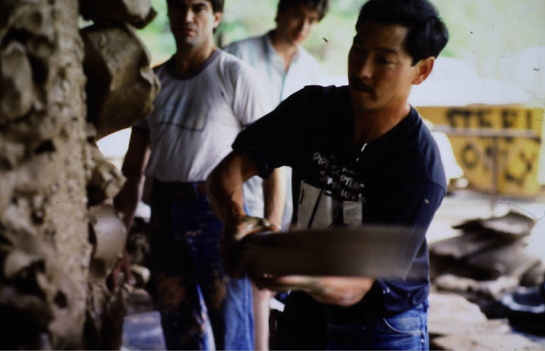 John Toki works on Clay Circa 1985.