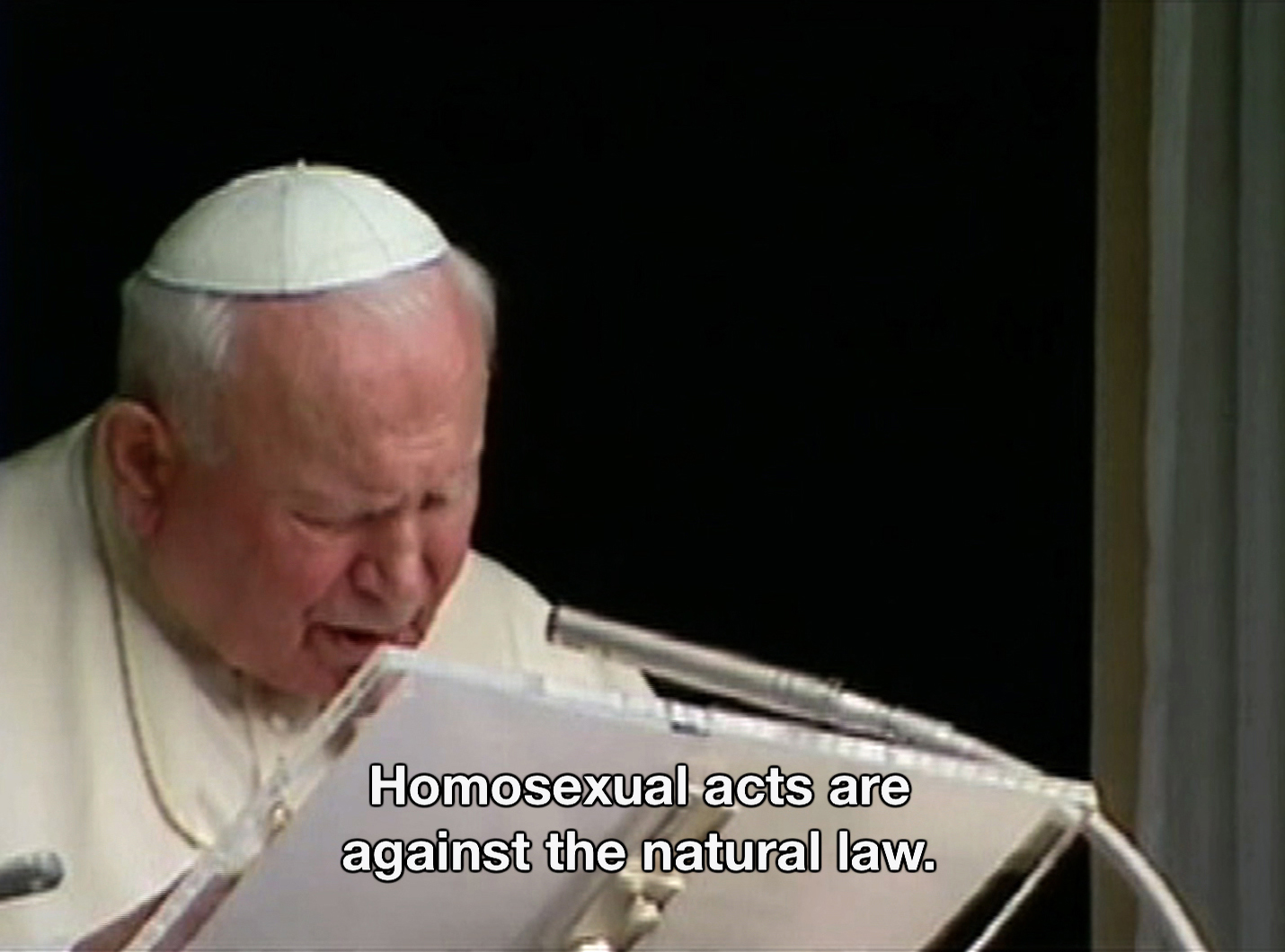 Pope John Paul II speaks