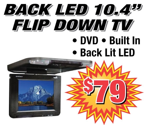 Get an affordable LED flip down TV installed in your car. Watch DVDs in your vehicle at an affordable price.