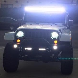 HID Car headlight installation.