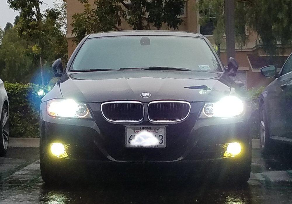 Stereo Depot BMW HID headlight installation.