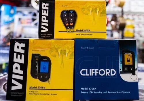 Car alarm and theft prevention at Stereo Depot.