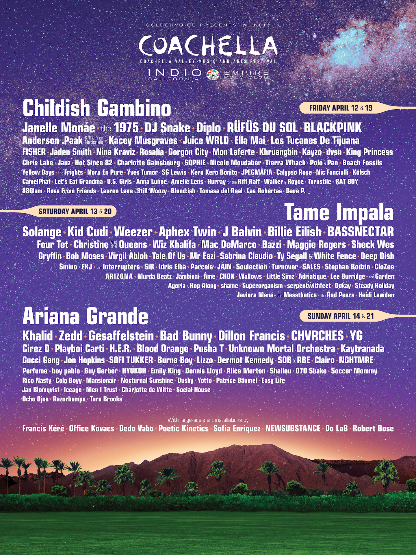 CATCH US AT… - Coachella weekend 1!