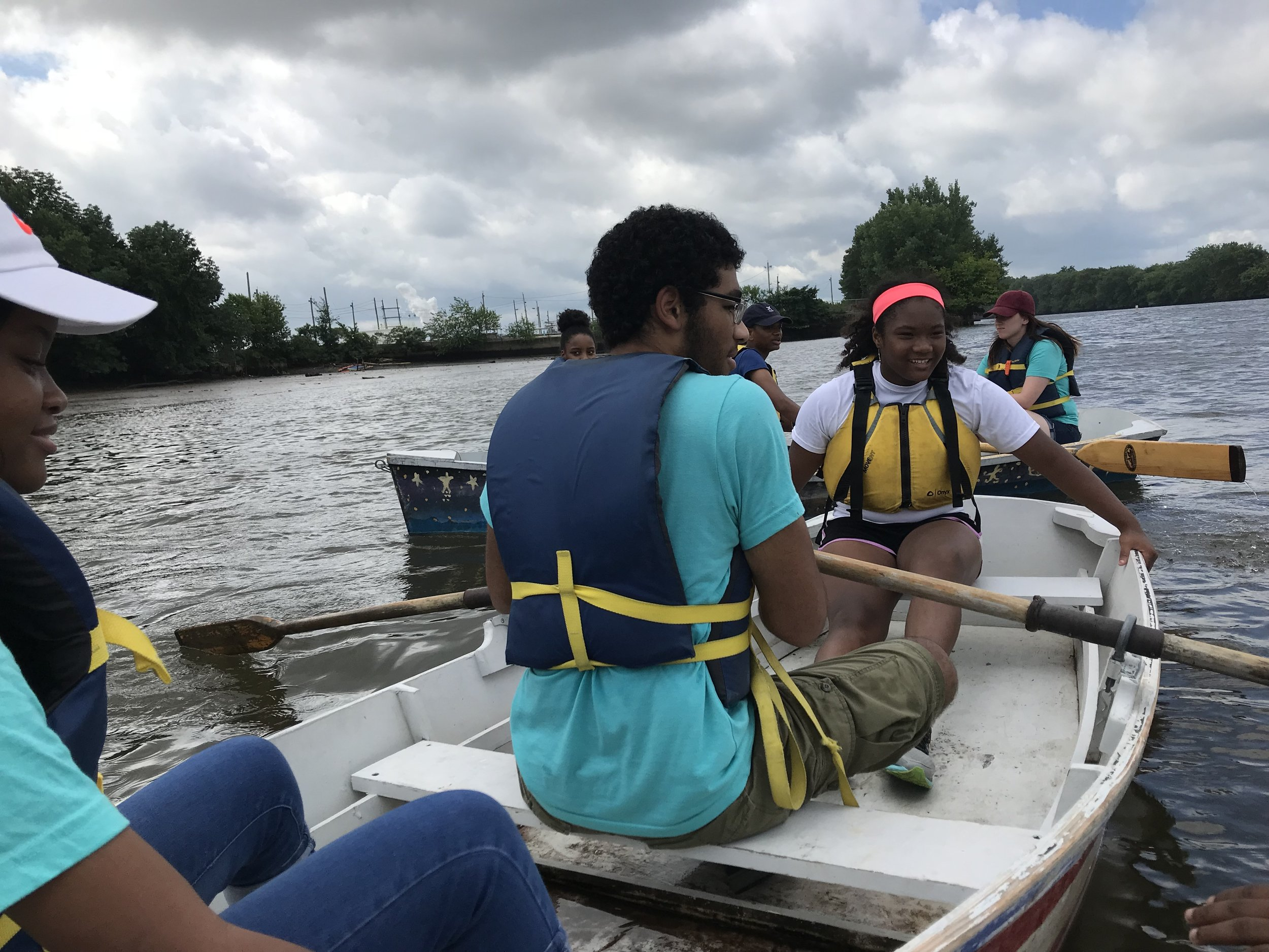 Anastasia and Beth spent some time over the 2018 summer season out on the water, collecting data and collaborating with youth from Philadelphia, PA and Camden, NJ who are working to protect our local watershed and promote environmental stewardship. These youth are part of Riverways, a collaboration between Bartram's Garden, Independence Seaport Museum, Urban Promise, and Glen Foerd on the Delaware.