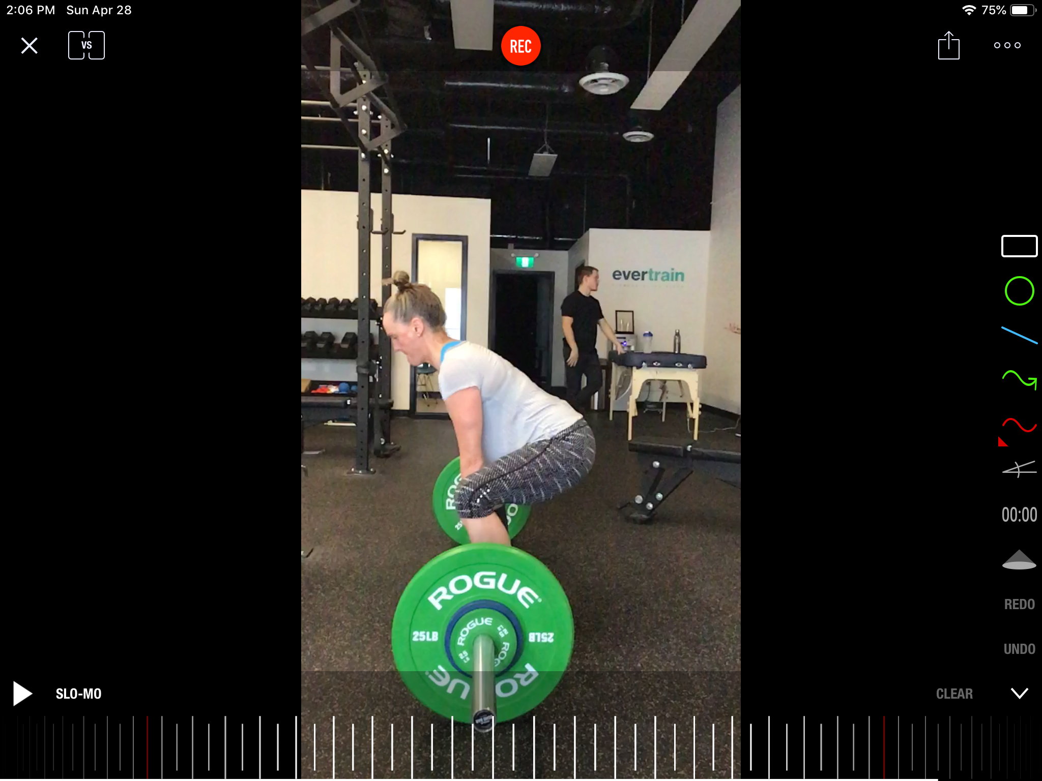Nicolette focuses her attention on her technique in a barbell deadlift. Deadlifts are movements that should be learned as it replicates the act of picking something up (a movement people do every day).