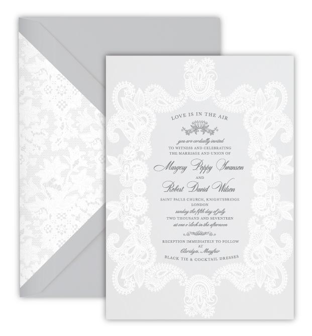 Margery Luxury Foil Letterpress Wedding Invitation
