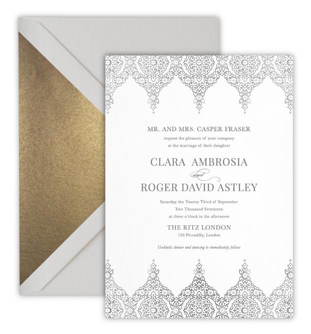 Clara Luxury Foil Letterpress Wedding Invitation