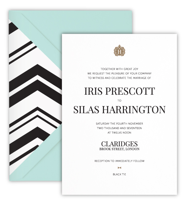 Iris Luxury Foil Letterpress Wedding Invitation