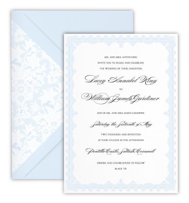 Lacey Luxury Foil Letterpress Wedding Invitation