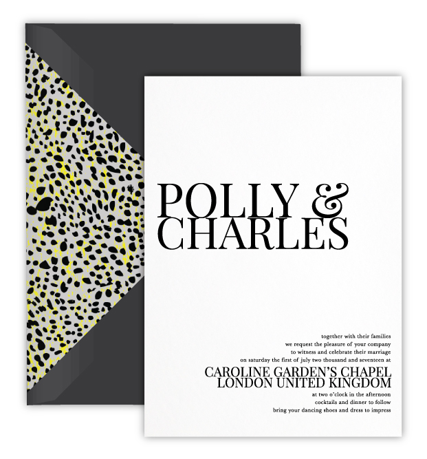 Polly Luxury Foil Letterpress Wedding Invitation