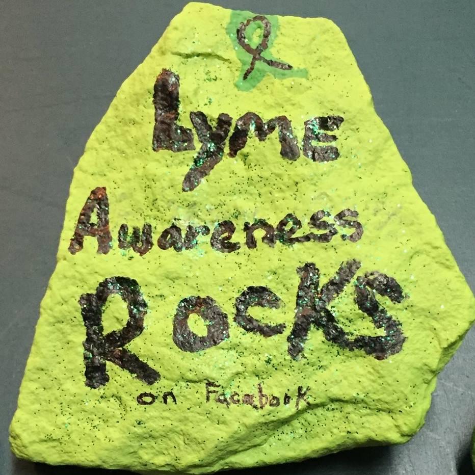 Lyme Awarness Rocks
