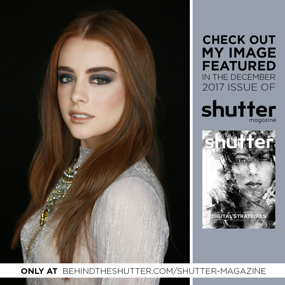 Shutter Magazine, you've been featured badge with a photo of a girl