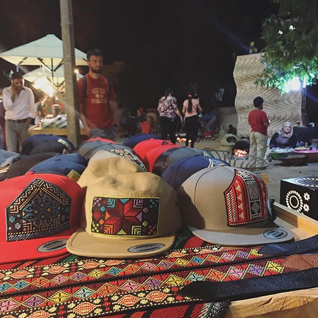 Flat brim hats are going fast tonight! Loving the energy at the night markets during Ramadan #HerfaSummer #herfaheritage #ramadankareem