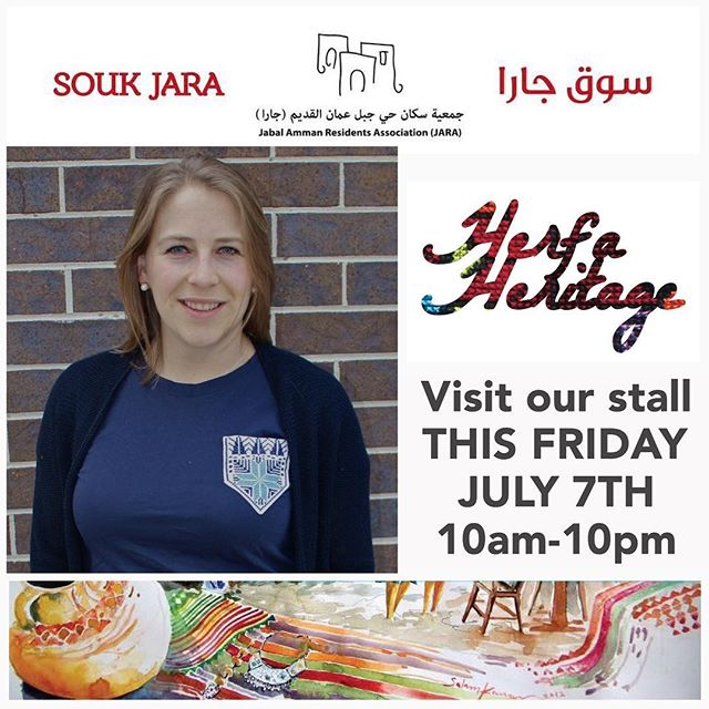 We are finally returning to @souk_jara (off Rainbow St) this Friday for one day only and we are quite excited! We did it once last Summer and it was a great time. Please come hang out with us at our stall and peruse our huge new batch of delicious snapback hats, sweet t-shirts and tanks, brand new sleek women's v-necks, and more. We'll also be selling our friend's brand - Nuun Bags. Visit our FB event at the link below for a secret password discount code. Also remember - our #HerfaSummer contest ends July 9th. ----------------------------- https://www.facebook.com/events/659810670892693/?ti=icl ----------------------------- #soukjara #HerfaSummer #herfaheritage #handmadebeauty #madeinjordan #livelovejordan #handmadewithlove #ammanfashion #ethicalfashion #simplyamman #snapbacks #hats #shirts #tanktops #tanks #amman #jordan #usa #kickstarter #funded #embroidery #smallbiz #livelovejordan #summertime #bawabetalsharq #tribalogy #womenscooperative #pockettees