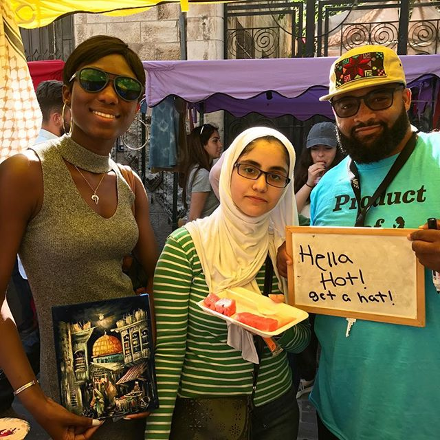 Watermelon, a sweet 5-panel hat, and a catchy slogan - I think this might be our favorite photo of the day at the Herfa booth! ---------------------------- So, thank you to everyone who came by our stall today at @souk_jara in Amman - whether you were an old friend or a totally new customer and buying something or just saying HI! We met some great people from all over the world and had a super fun time. For those who took a photo or bought something - don't forget to enter the #HerfaSummer contest & tag @herfaheritage (you have until July 9th). ----------------------------- #soukjara #HerfaSummer #herfaheritage #handmadebeauty #madeinjordan #livelovejordan #handmadewithlove #ammanfashion #ethicalfashion #simplyamman #snapbacks #hats #shirts #tanktops #tanks #amman #jordan #usa #kickstarter #funded #embroidery #smallbiz #livelovejordan #summertime #bawabetalsharq #tribalogy #womenscooperative #pockettees