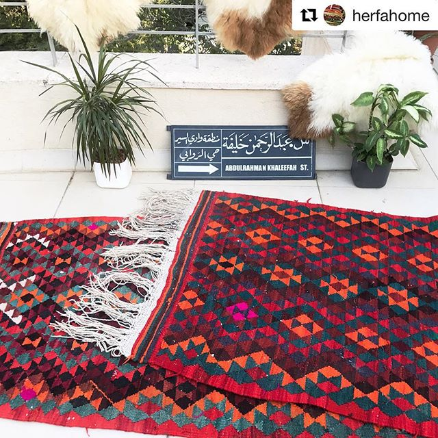 "#Repost @herfahome BIG NEWS! Our new sister company herfaHOME has just launched with six beautiful, vintage rugs for on sale on their online shop. We are very excited! ・・・ herfaHOME IS LIVE! (Link in bio)  Just posted the gorgeous geometric kilim from Jordan with sweet pink signatures from the weaver. 💓 9'8""x3' $450 Special promo code on our site this week use ""helloherfa"" for 20% off. . . . . @herfahome #HerfaHOME @herfaheritage #vintagehome #antiquerugs #vintage #howwedwell #mycuratedaestetic #modernbohemian #myhomevibe #bohemianhome #ilovemyinterior #mydomaine #bohemianhome #bohemiandecor #bohemianstyle #bohochic #ihavethisthingwithtextlies #currentdesignsituation #ighomes_interior #myhomevibe #middleeaststyle #middleeasteveryday #handmadegoods  #myboldhues #getthegloballook #middleeasteveryday @designsponge @blissfully_eclectic @kismet_house @natasha.designs @eclectic.leigh @anatoliandesign @justinablakeneyhome @designlovefest @loomandkiln @apartmenttherapy #apartmenttherapy @thegoodrug #vintageshop #vintagerug #vintagestyle"