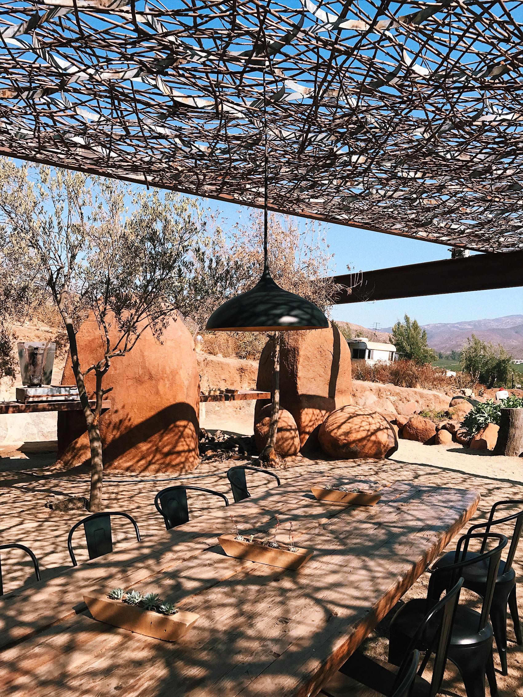 acme real estate interior blog road trip los angeles valle de guadalupe Deckman's at El Mogor Restaurant in Valle de Guadalupe | Ensenada | Valle Food — With Love, Paper and Wine
