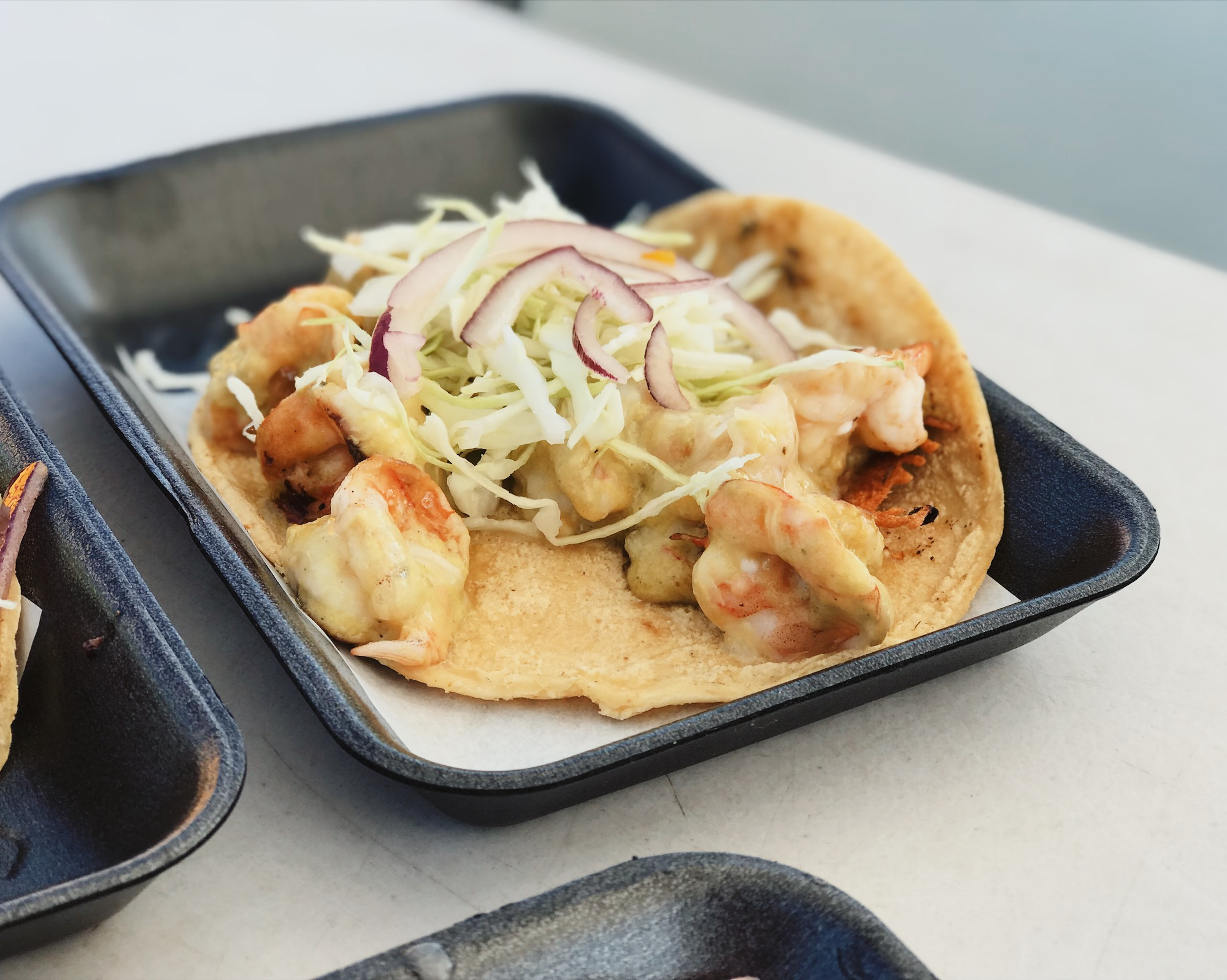 Taco Culichi (Shrimp in poblano sauce) | ©Life & Food