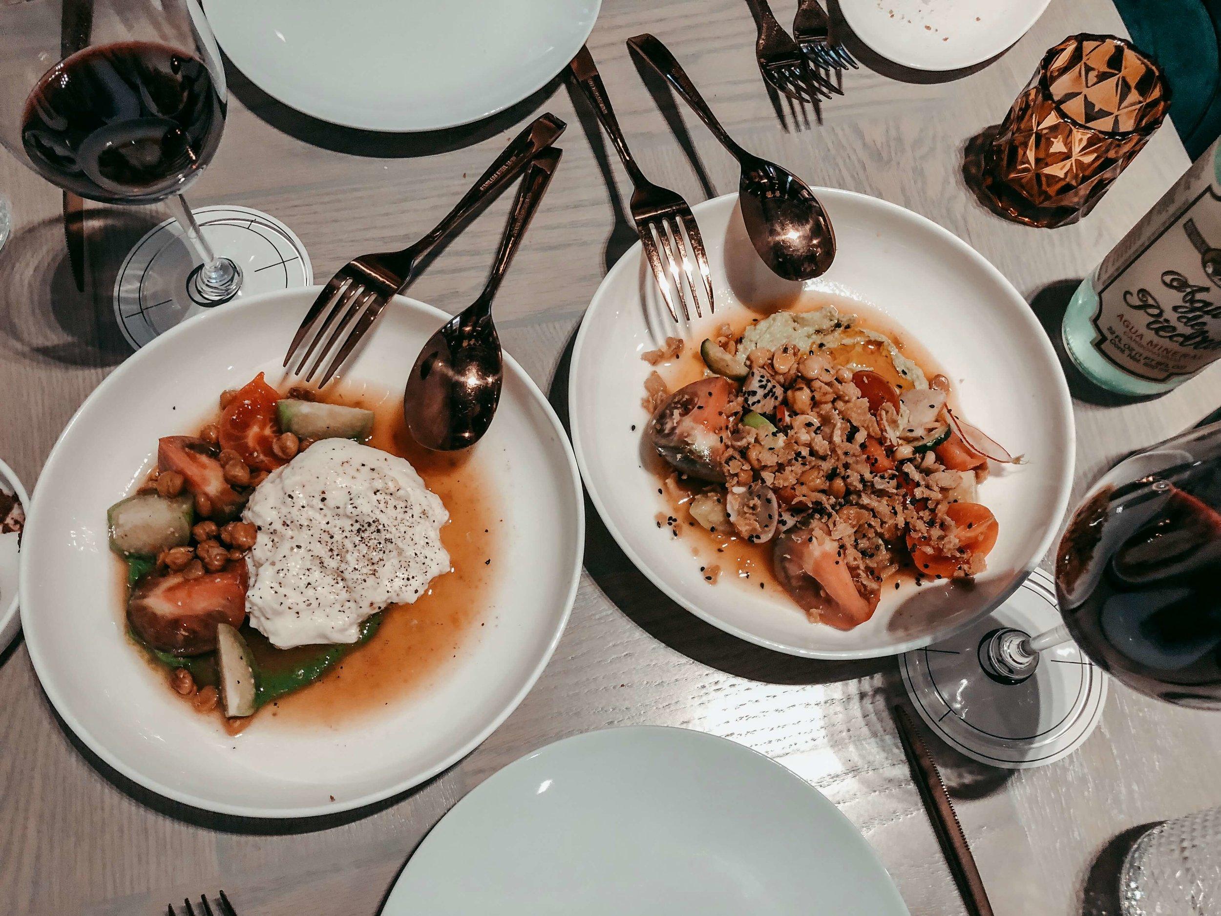Crudités + Burrata | Georgina Restaurante