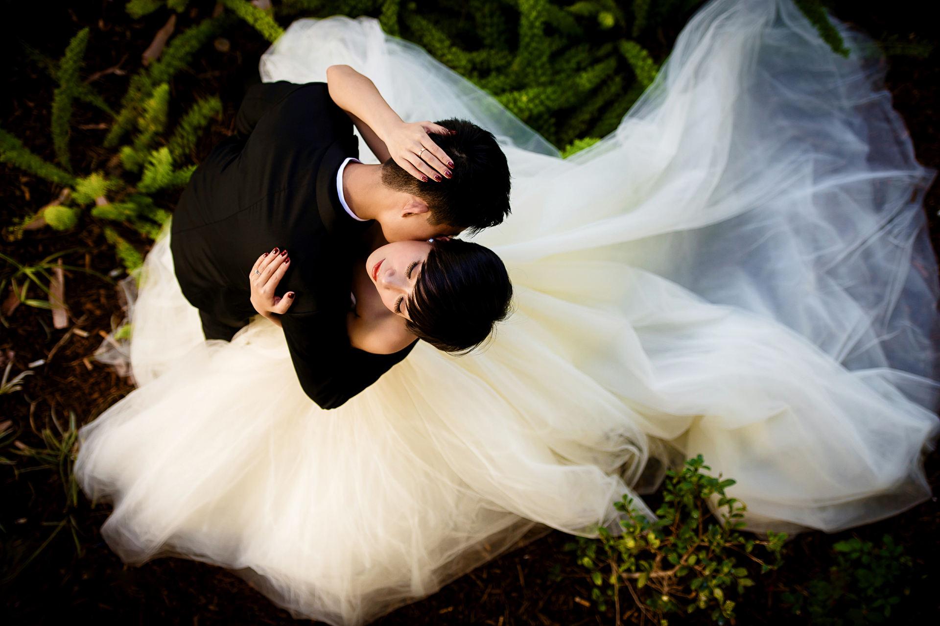 在USC拍摄的婚纱照片