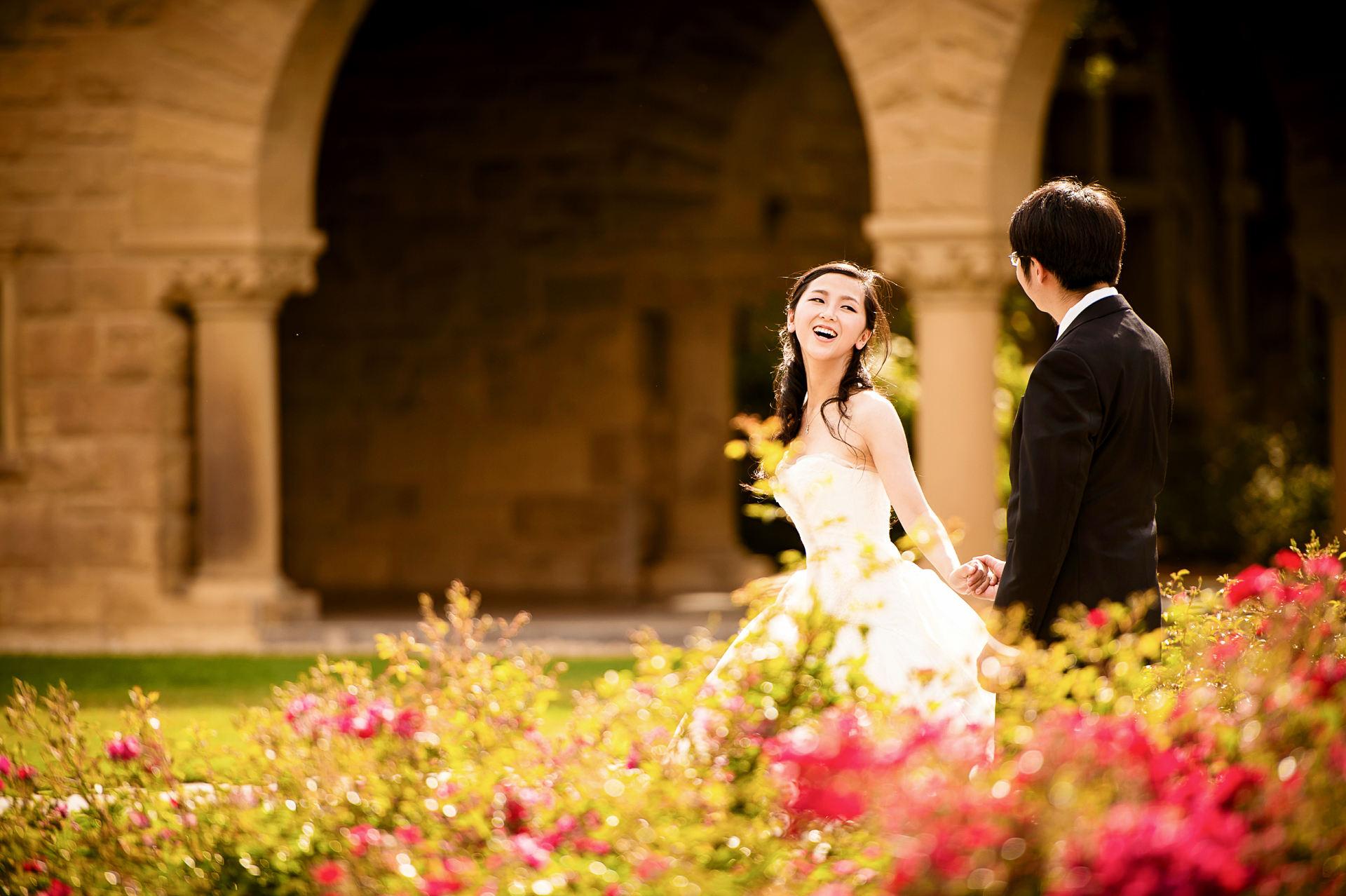 斯坦福校园婚纱照