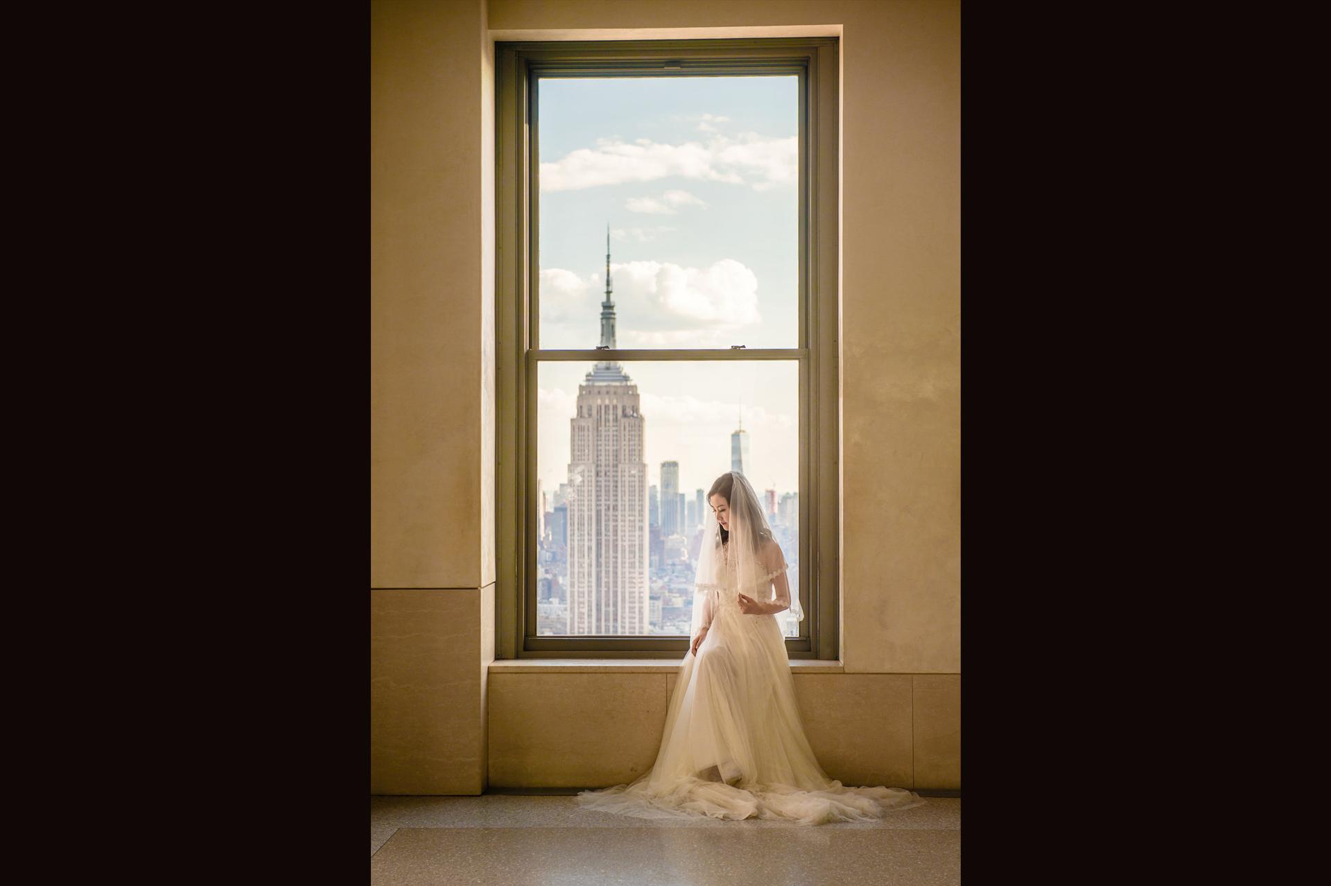 纽约曼哈顿婚纱照  new york top of the rock pre wedding