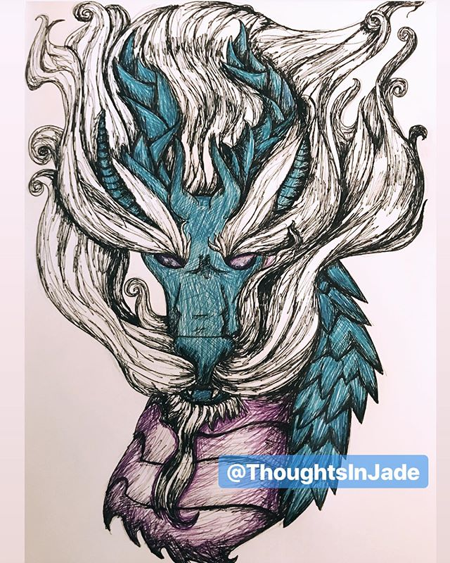 Haven't drawn a dragon in a long time 😅  Also, I'm still slowly, but surely working on MerMay. I've got one in progress that I'm spending a little more time on #qualityoverquanity  I really am trying to draw every single day. I have been for the most part, but I just don't post everything I draw #immyworstcritic ☠️ . . . #art #artistsoninstagram #artist #instaart #instaartist #doodle #sketch #sketchbook #drawing #draw #pen #penart #penandink #dragons #dragonart #dragon #mythicalbeasts #mythical
