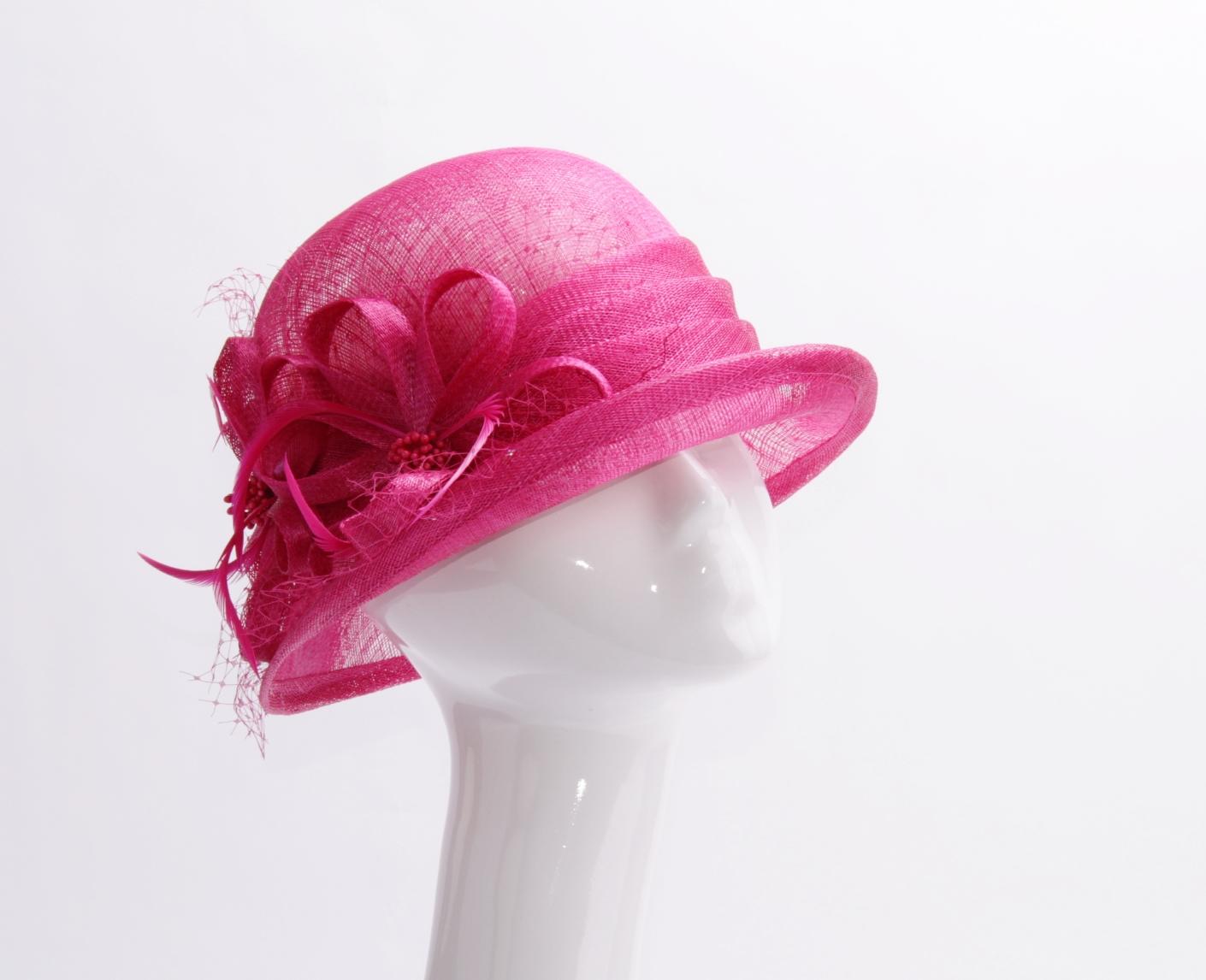 0500001243-100% Sinamay Summer Hat-YW-003-Red.JPG