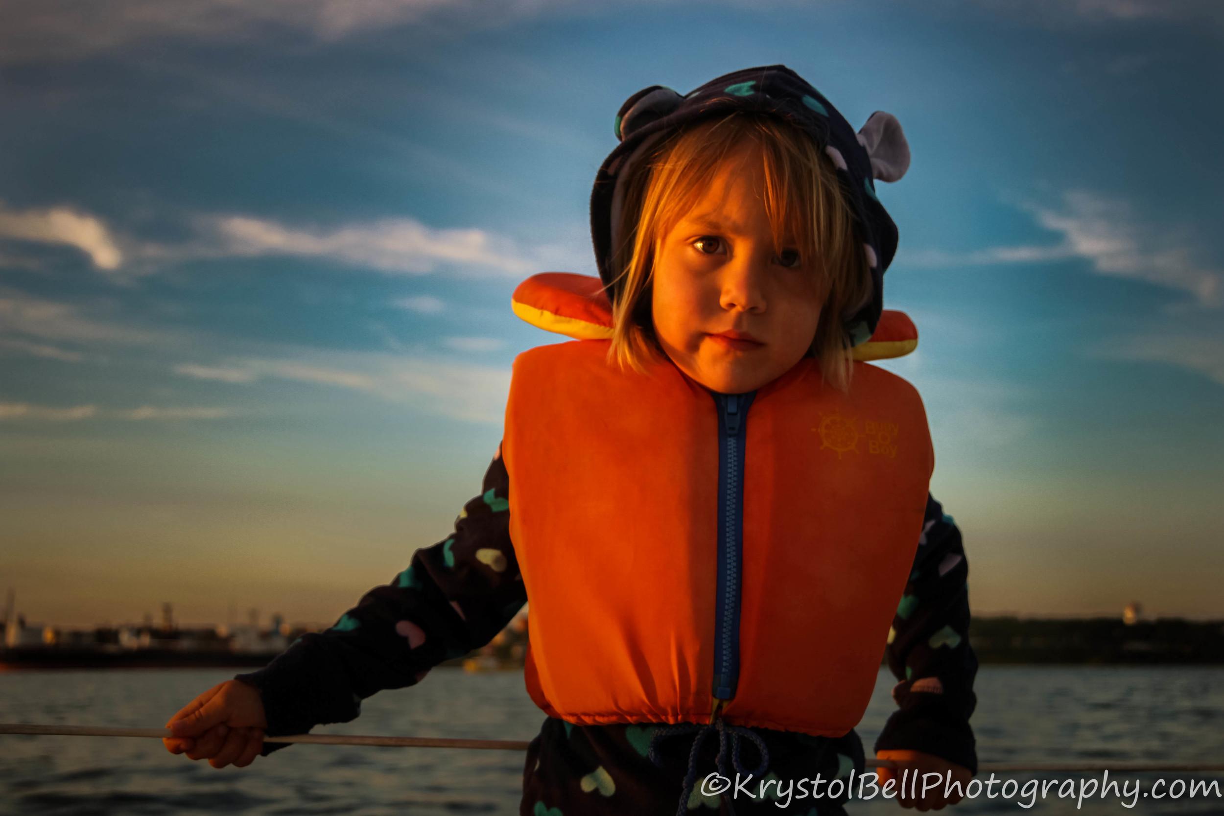 Savannah sailing into the sunset!