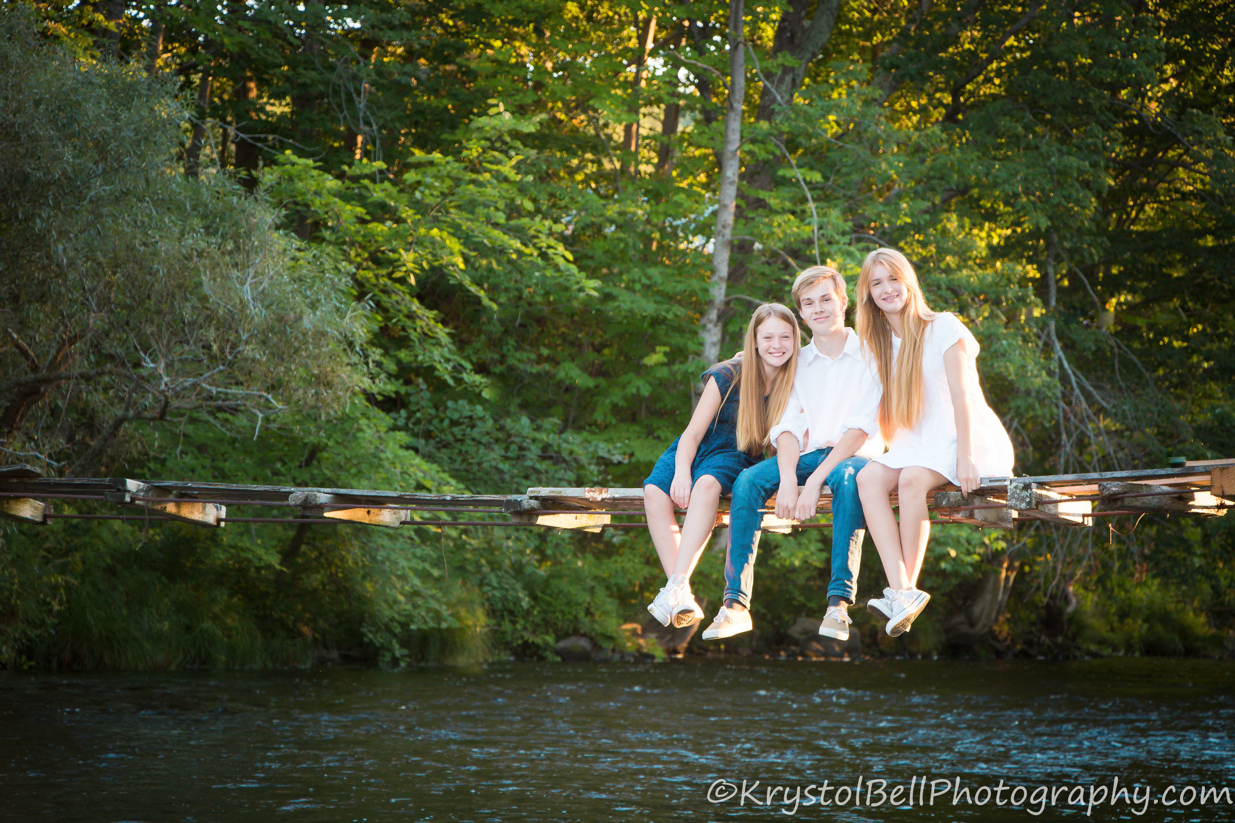 These three were so much fun, and I loved that they were happy to make their way out on to a sketchy bridge!