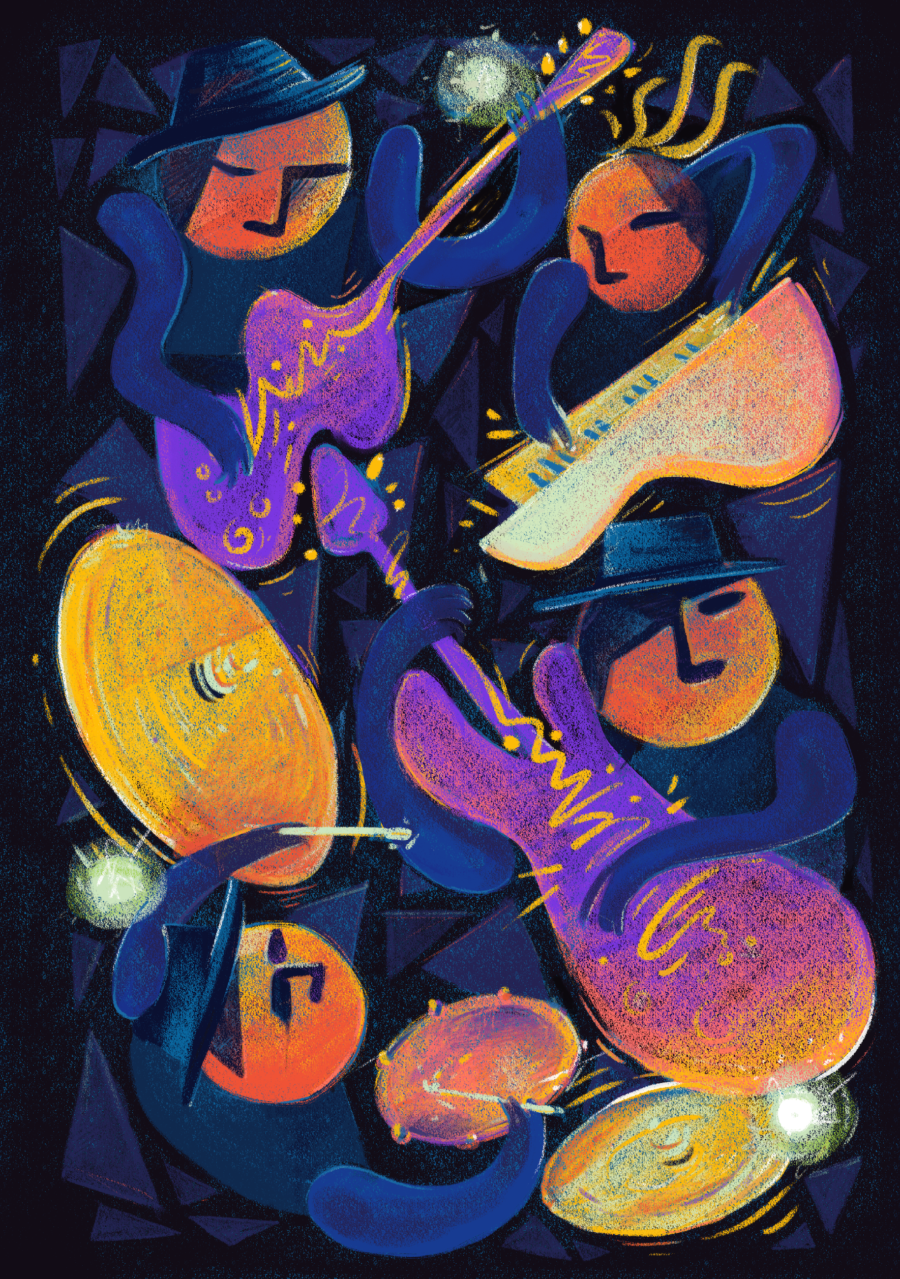 2017 Western Maryland Blues Fest - Winning submission for the 2017 Western Maryland Blues Fest call to artists.The poster design defined the fest's branding for the year, and was featured on merchandise, advertising, and all print and digital materials.←back
