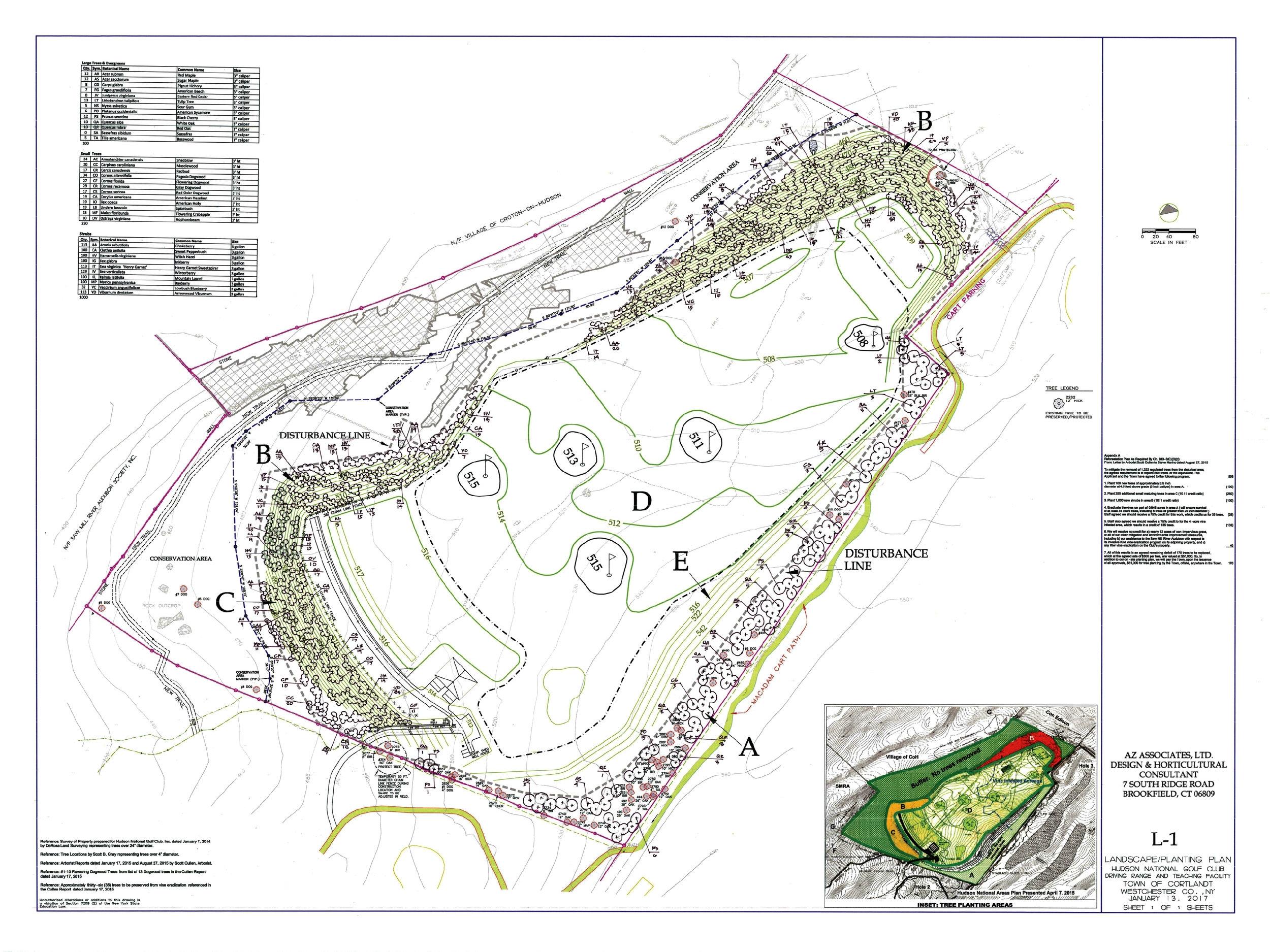 Croton on Hudson planting plan