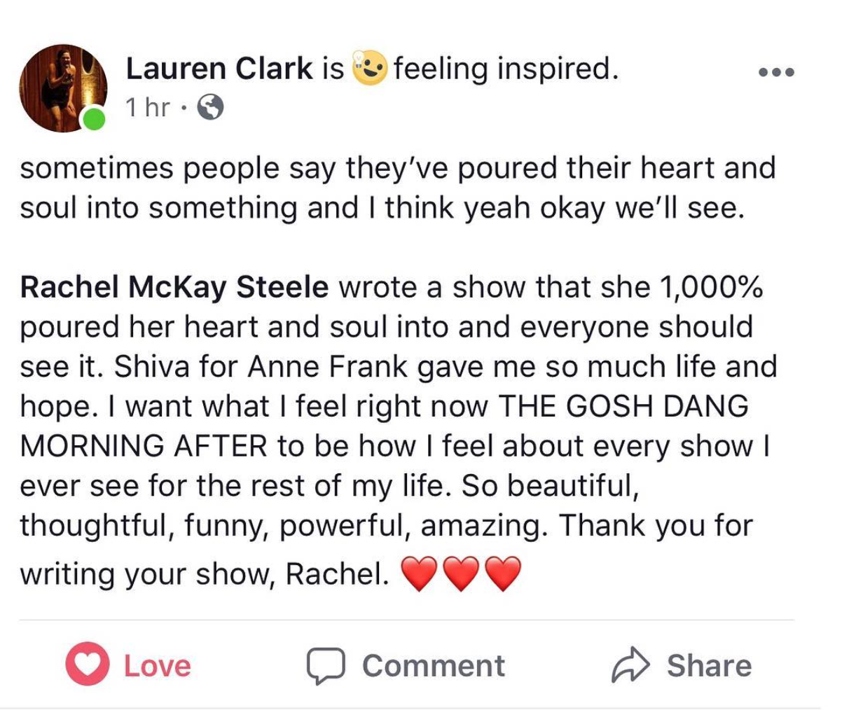 -From comedian Lauren Clark, host of Profiled