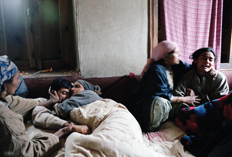 A day after a massacre where 23 men, women and children were brutally murdered, Nadimarg, Kashmir.