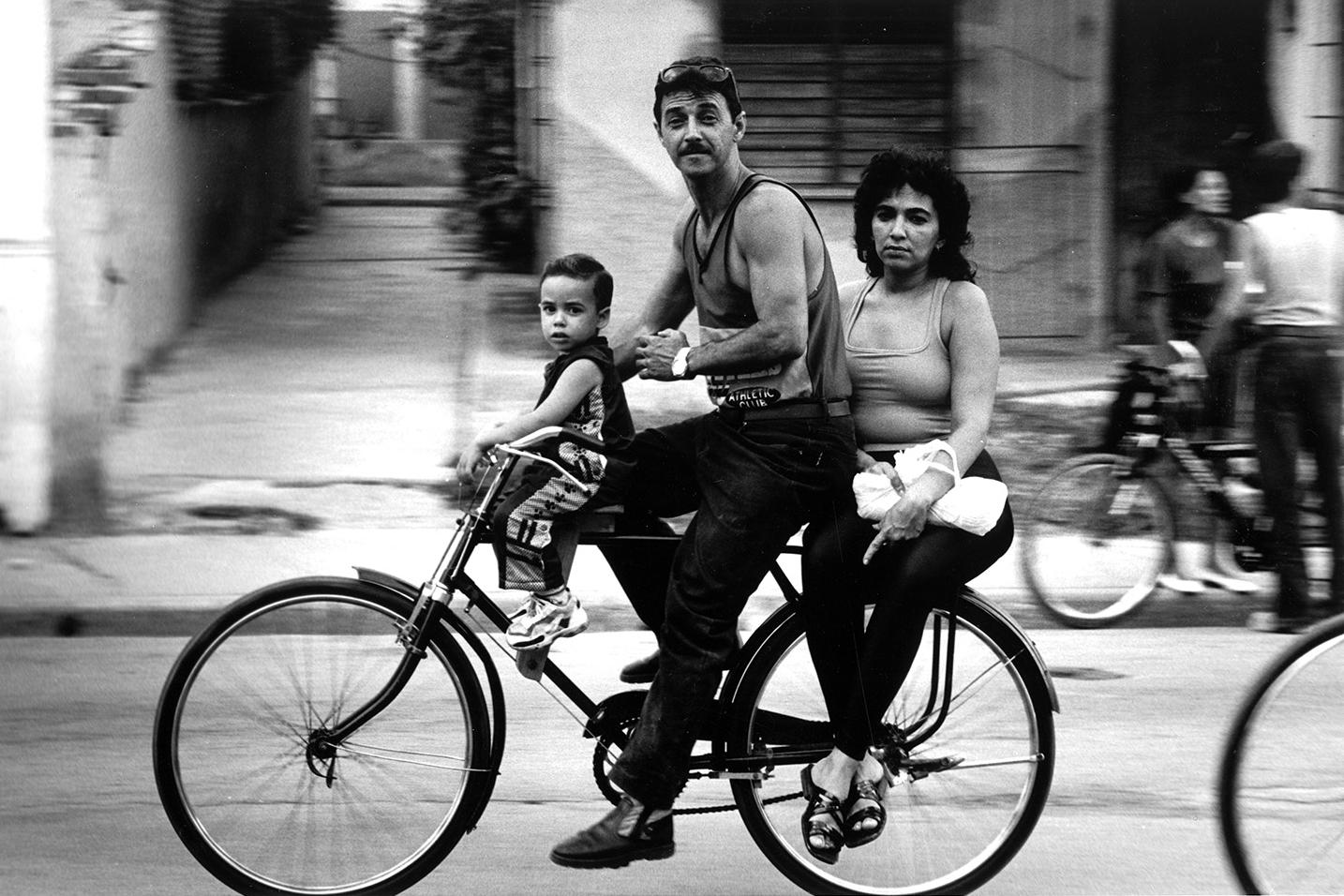 Family on wheels, Camagüey, Cuba.