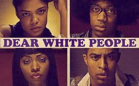 "A poster from the 2014 Justin Simien movie, ""Dear White People."""