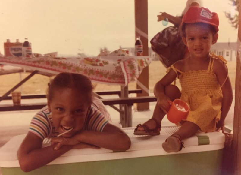 Me and my cousin, Rebecca, sometime in the early 1980s.