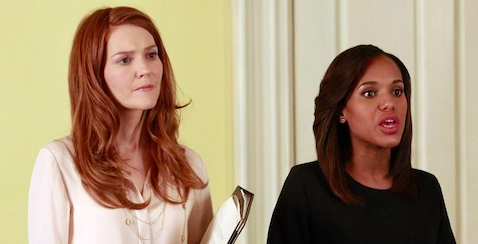 Abby and Olivia (played by Darby Stanchfield and Kerry Washington)