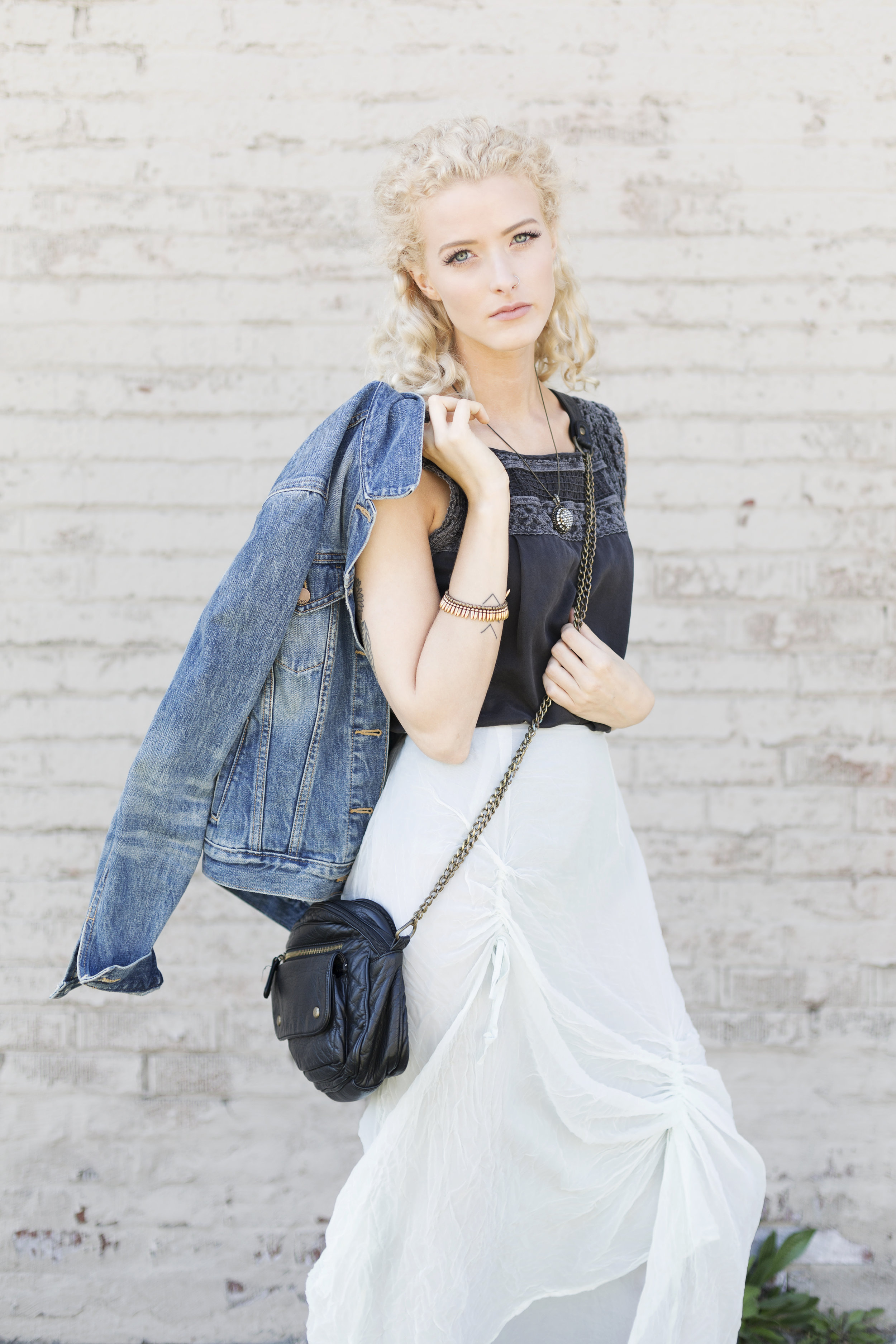 A trusty denim jacket is perfect for popping in and out of shops