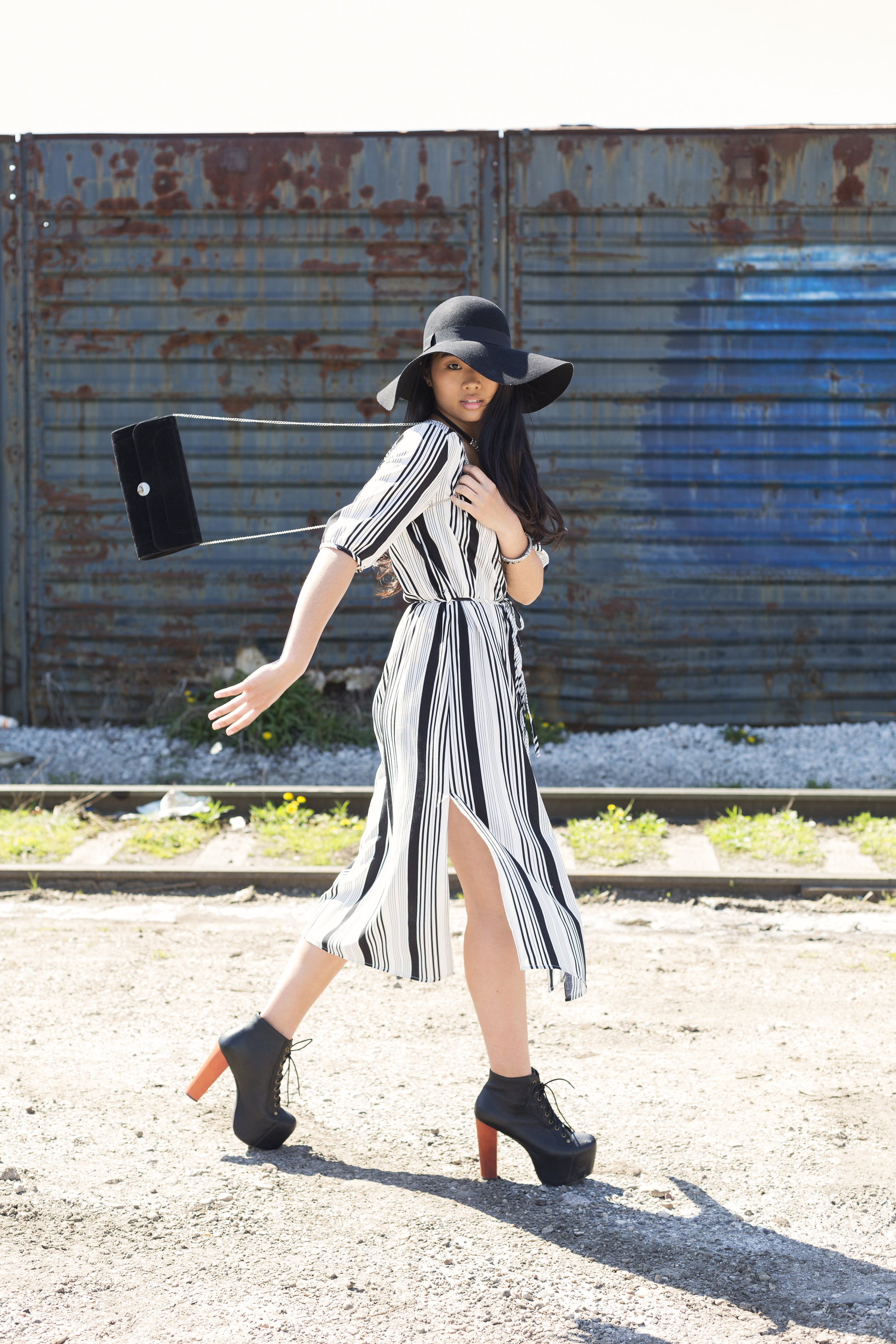 Keep cool with side slits and light-weight dresses