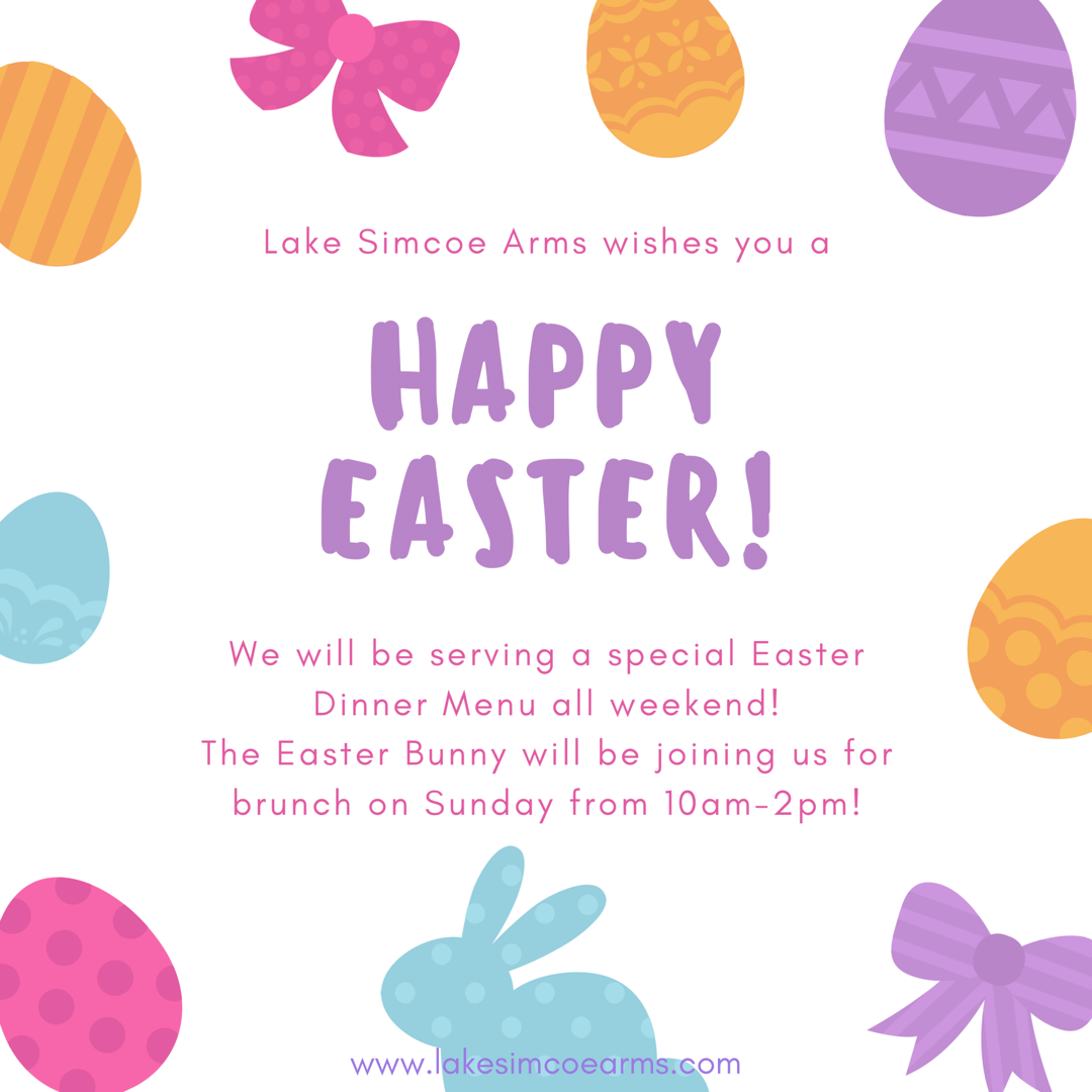 Sunday, April 16th - Easter at The Arms!   Join us this Sunday from 10am-2pm for Easter brunch! We're expecting a special guest!