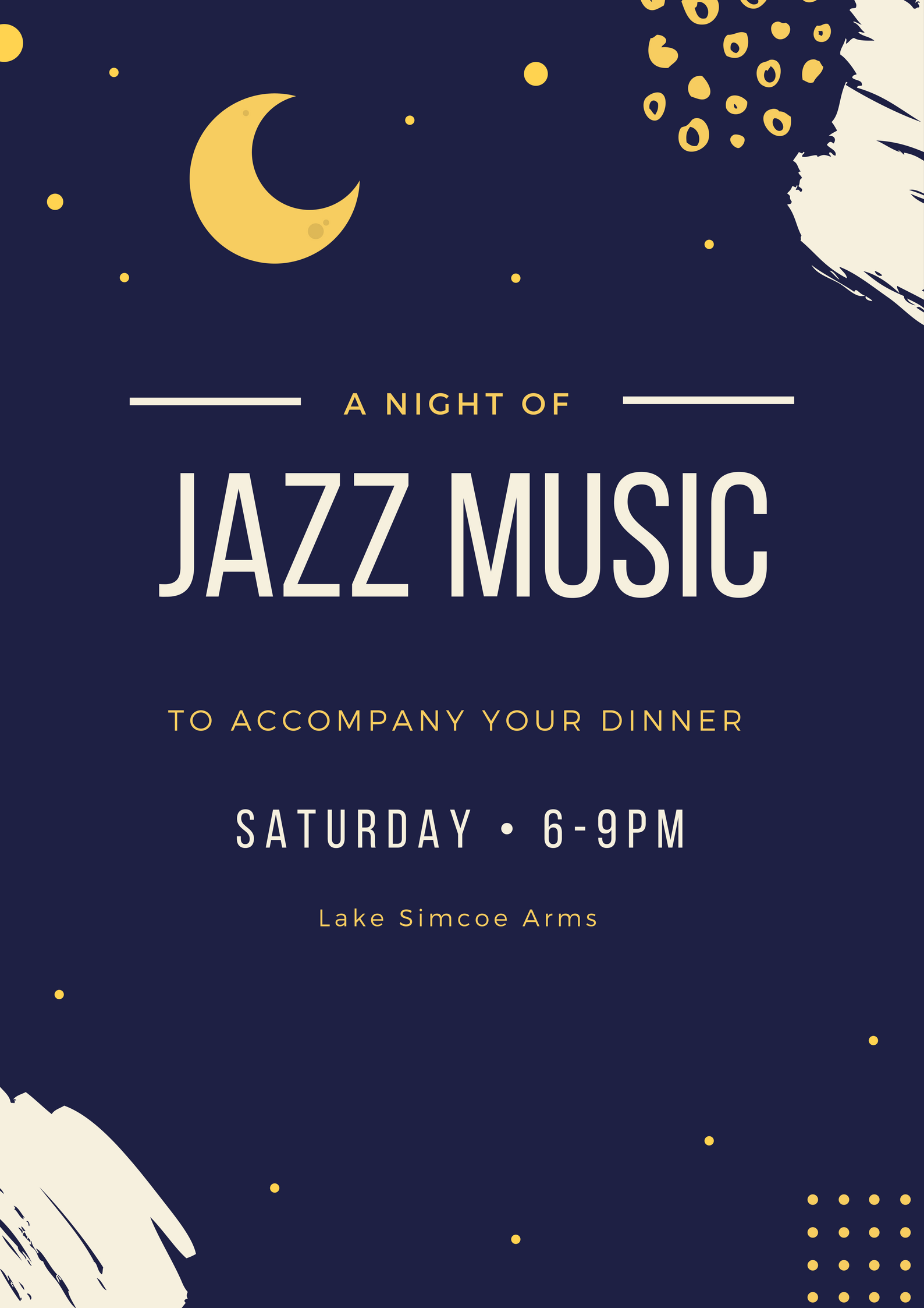 Saturday, October 7th - Dinner Jazz  We are happy to welcome back jazz duo Joe Agnello & Frank Gennuso to The Arms! This is the 3rd year that they will be providing us with Saturday night jazz music to accompany dinner every Saturday from 6-9pm.