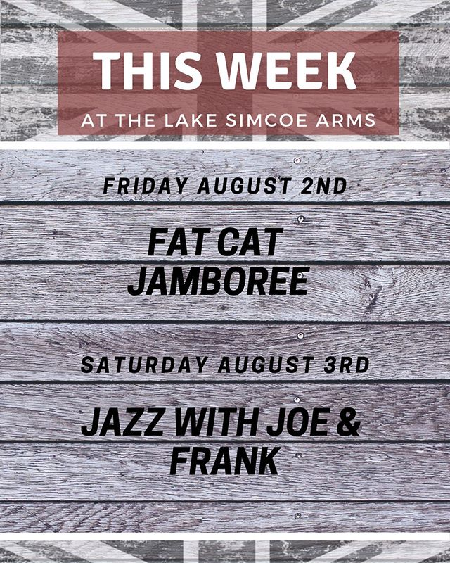 #livemusic #lakesimcoe #longweekend #entertainment #thearms #beer #goodfood #jacksonspoint #townofgeorgina #lakesimcoearms #fatcatjamboree #jazz #weekendvibes