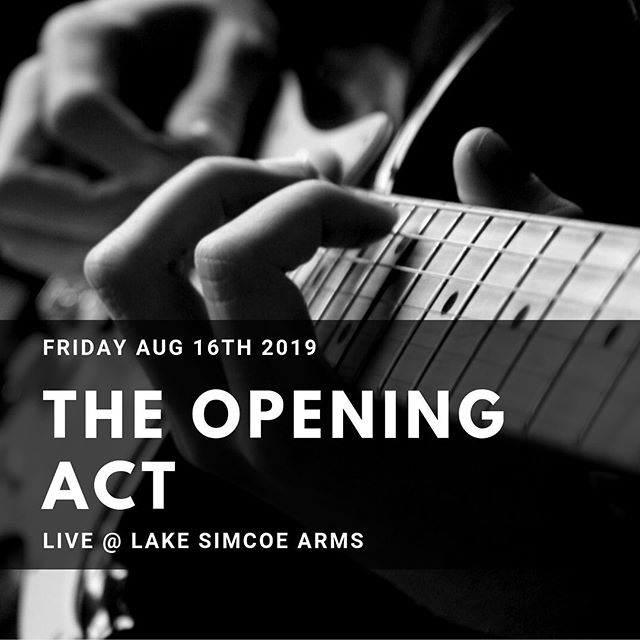 This Friday! The Opening Act, an awesome duo from Georgina will be with us from 9pm-12am. Come early to make sure you get a good spot and maybe something to eat! #entertainment #livemusic #lakesimcoe #jacksonspoint #lakesimcoearms #thearms #britishpub #goodfood #friday #localtalent
